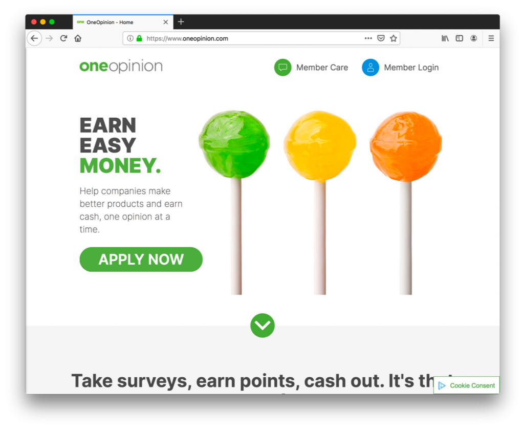 OneOpinion is a legitimate paid online survey site