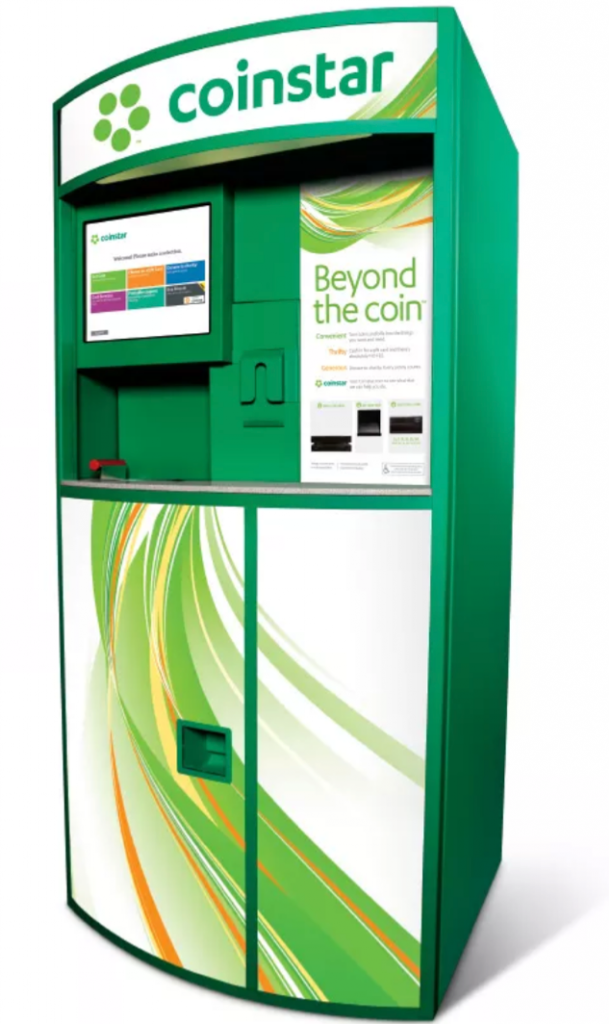 Coinstar kiosk machine