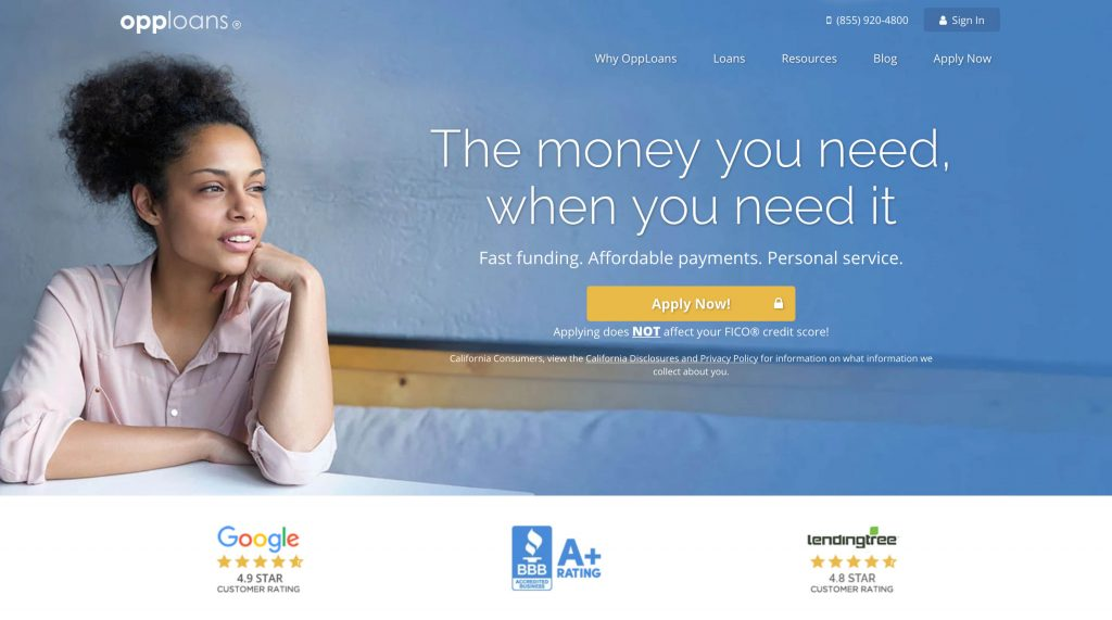 OppLoans personal loans for bad credit
