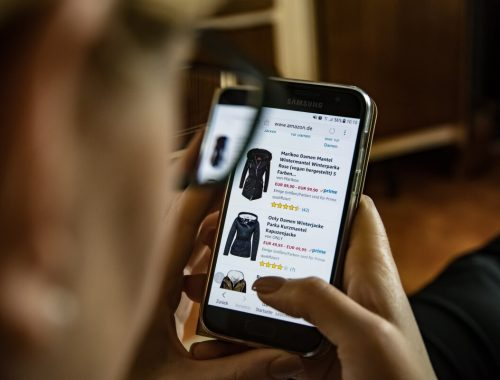 Finding Amazon discounts on phone screen