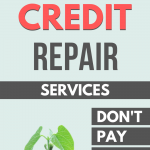 Compare the cost of various credit repair services